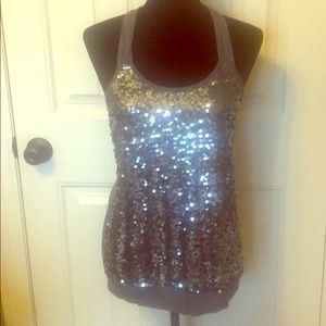 NWT Express Fun Glam Sequined Top✨